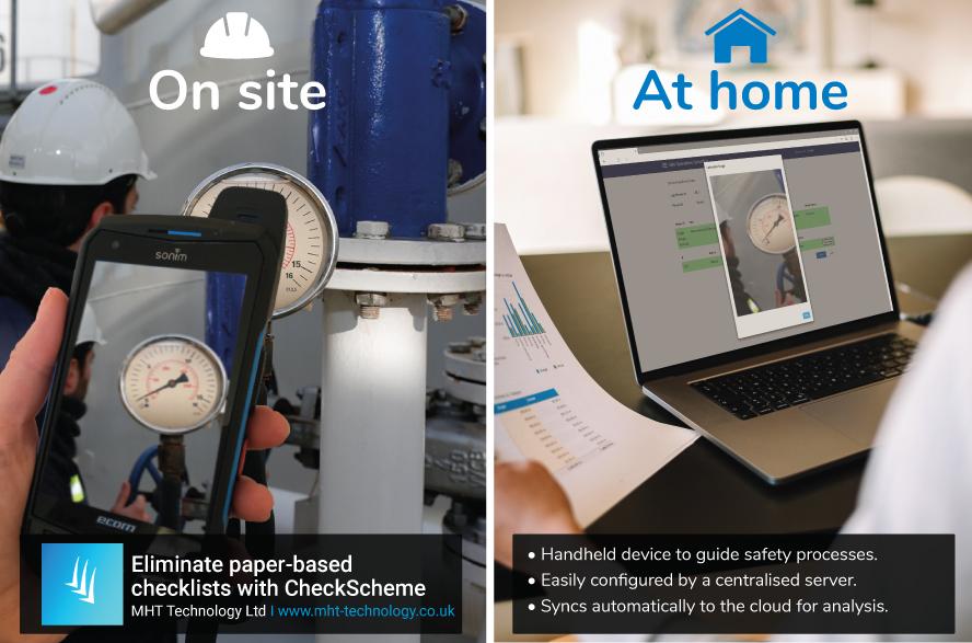 Advert showing Remote working on Checkscheme